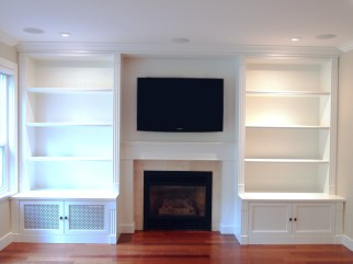 Custom White Entertainment Center