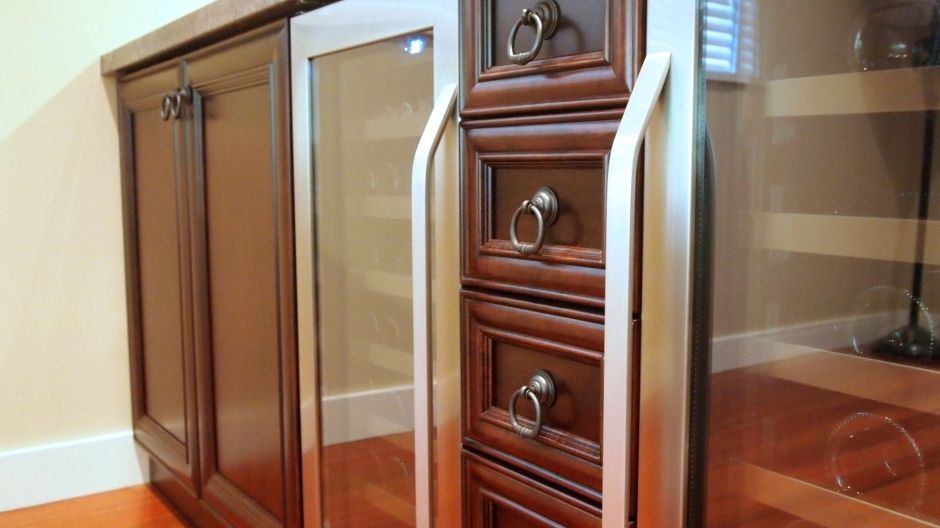Dark Brown Bar Cabinets